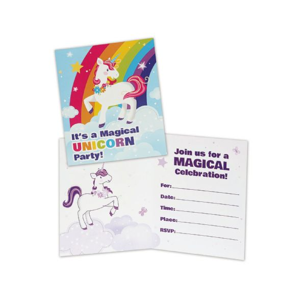 Fairytale Unicorn Invitations Party Favor Favour